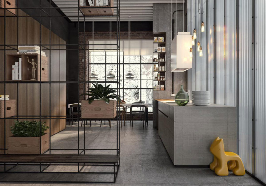 Industrial Style Apartment in Kiev by Ruslan Kovalchuk (10)