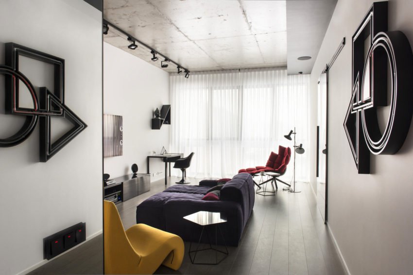 Neon Apartment in Moscow by Geometrix Design (5)