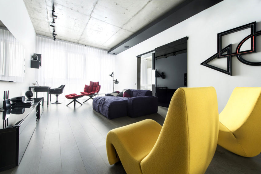 Neon Apartment in Moscow by Geometrix Design (7)