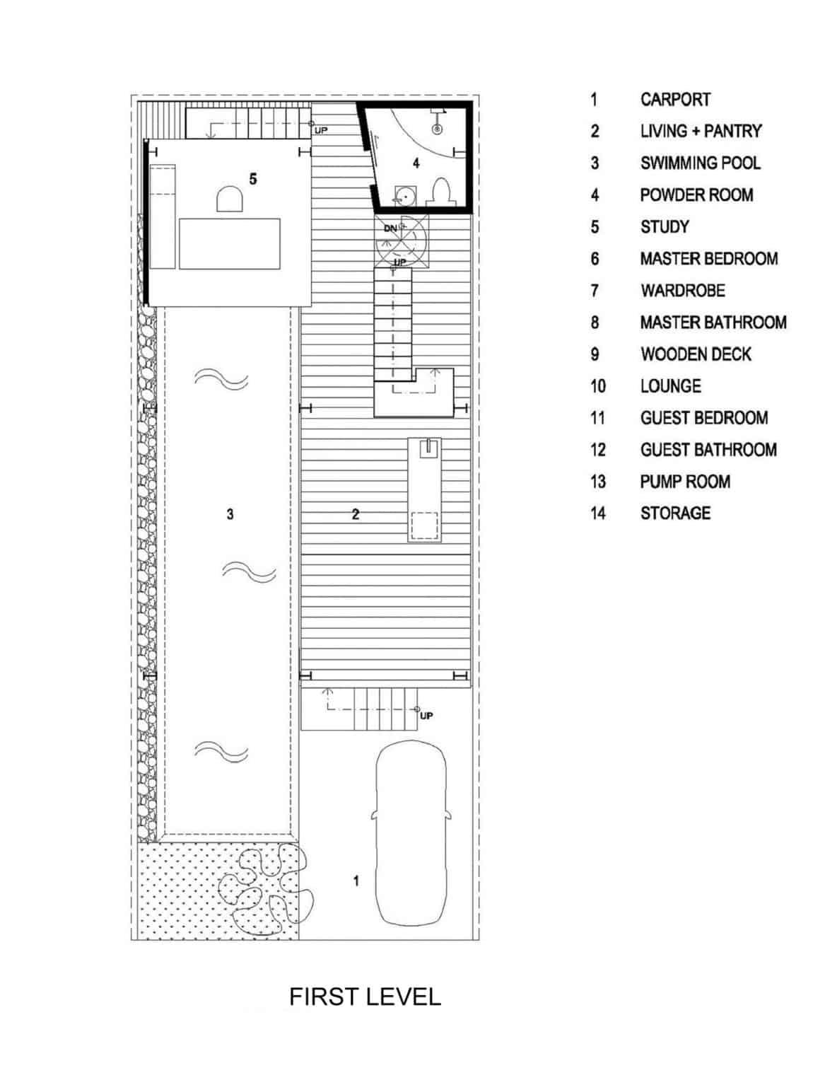 Slanted House by Budi Pradono Architects (15)