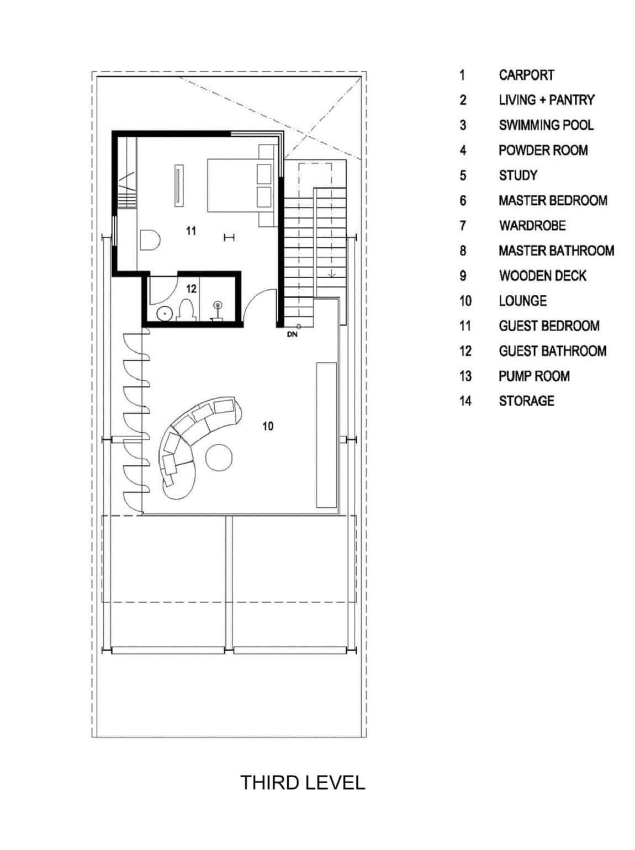 Slanted House by Budi Pradono Architects (17)