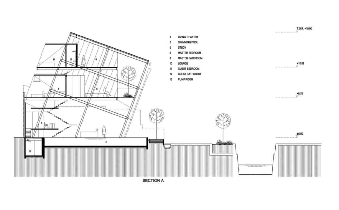 Slanted House by Budi Pradono Architects (19)