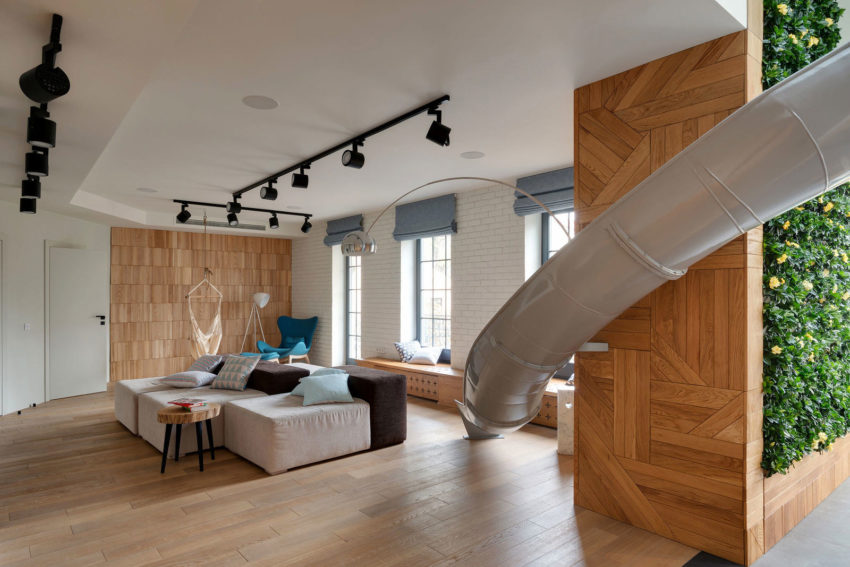 Apartment with a Slide by KI Design (1)