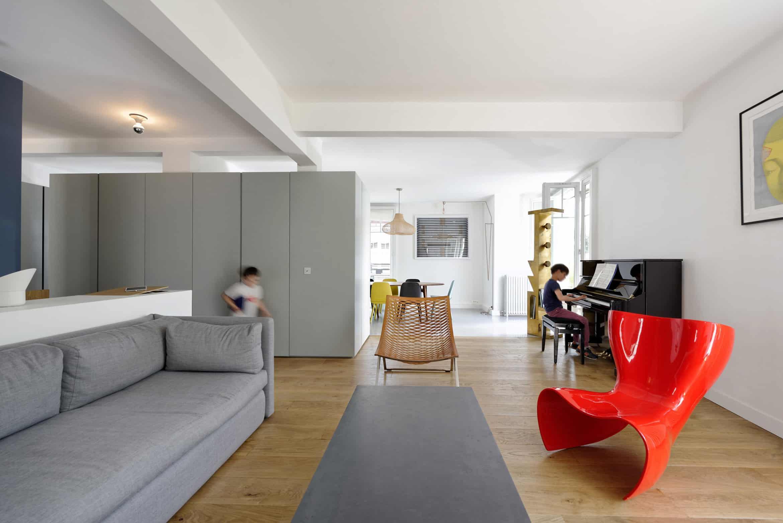 Equipe Eitan Hammer et Ulli Heckmann Design a Private Residence in Paris, France