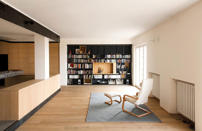 Wood and Iron Apartment by Luca Compri (2)