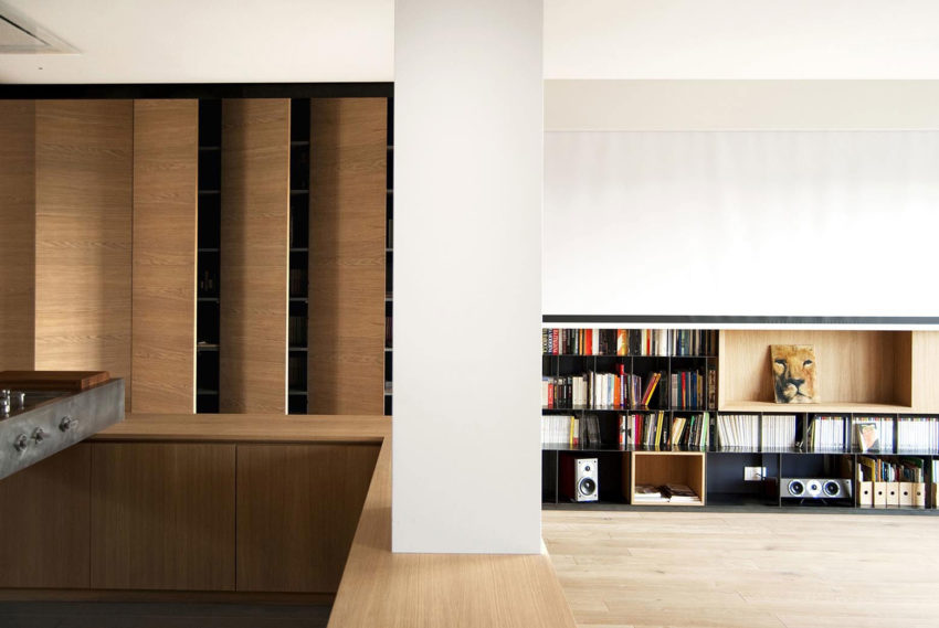 Wood and Iron Apartment by Luca Compri (4)