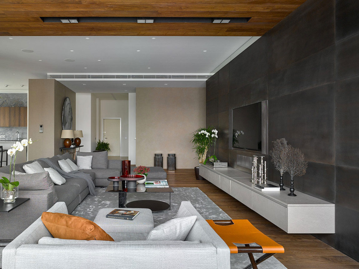 Apartment with Pan Views of Moscow by Alexandra Fedorova (9)