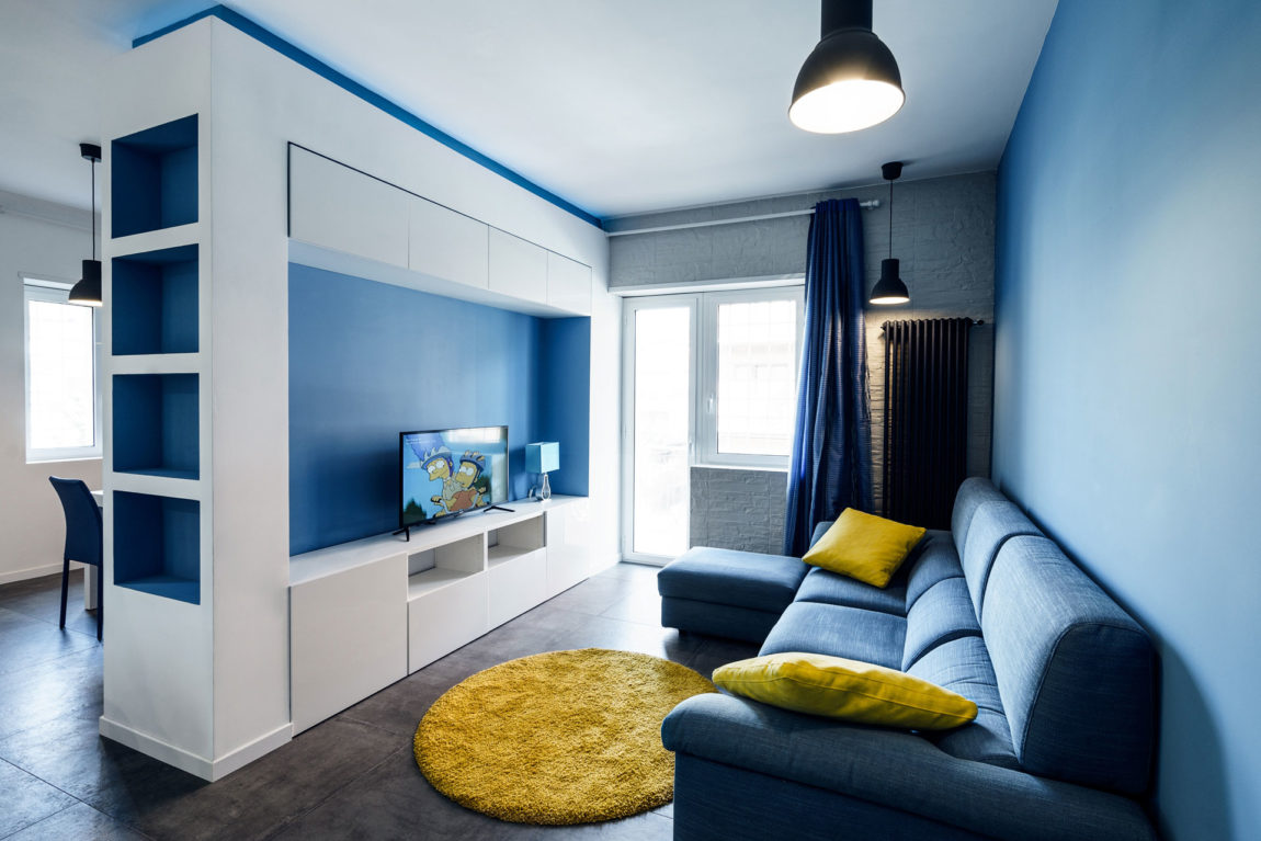 Prismatic Blue Apartment by Brain Factory (3)