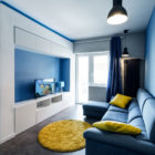 Prismatic Blue Apartment by Brain Factory (3)