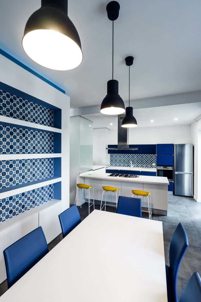 Prismatic Blue Apartment by Brain Factory (10)