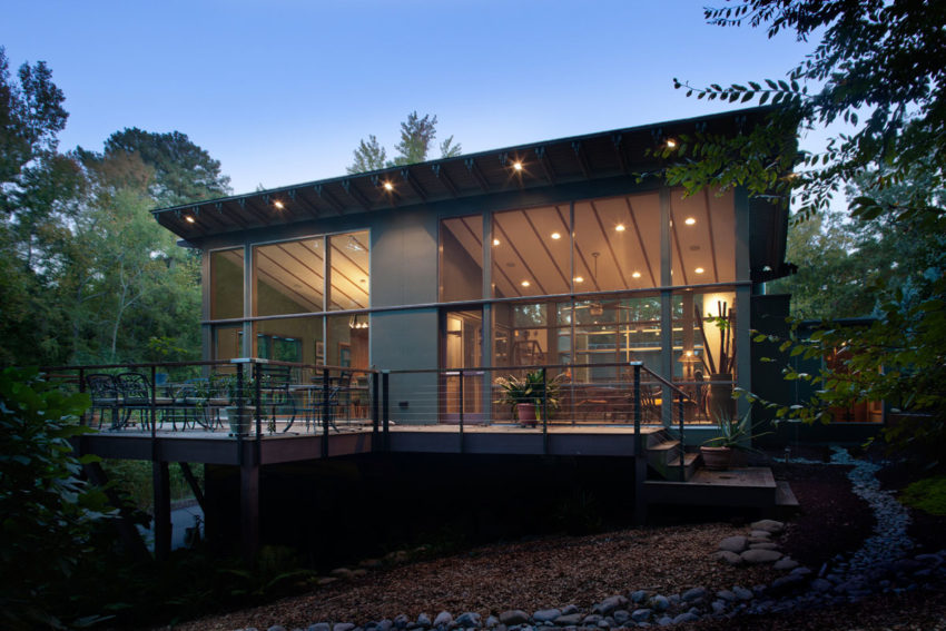 Krichco construction builds a contemporary home in durham for Building a house in nc