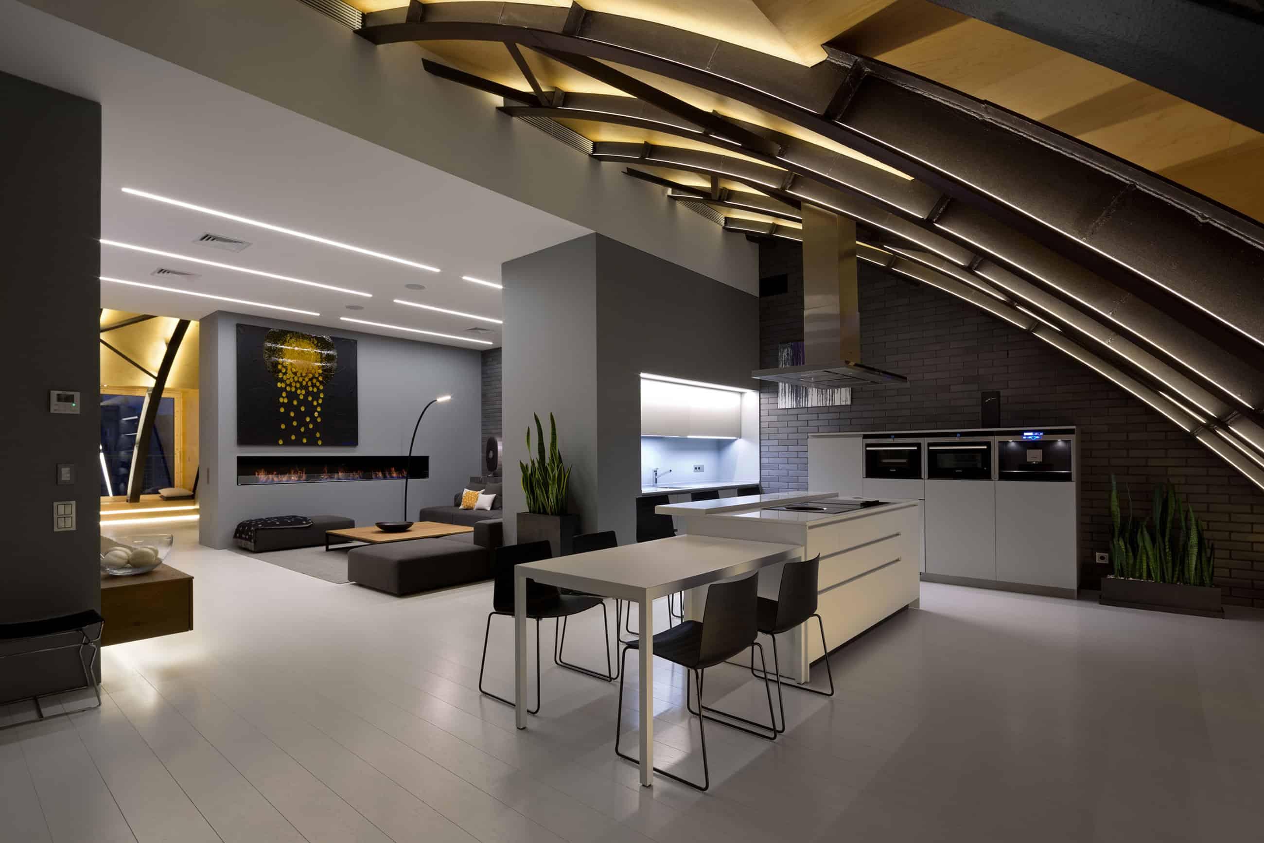 Alex Obraztsov Designs a Stylish Loft in Kiev, Ukraine