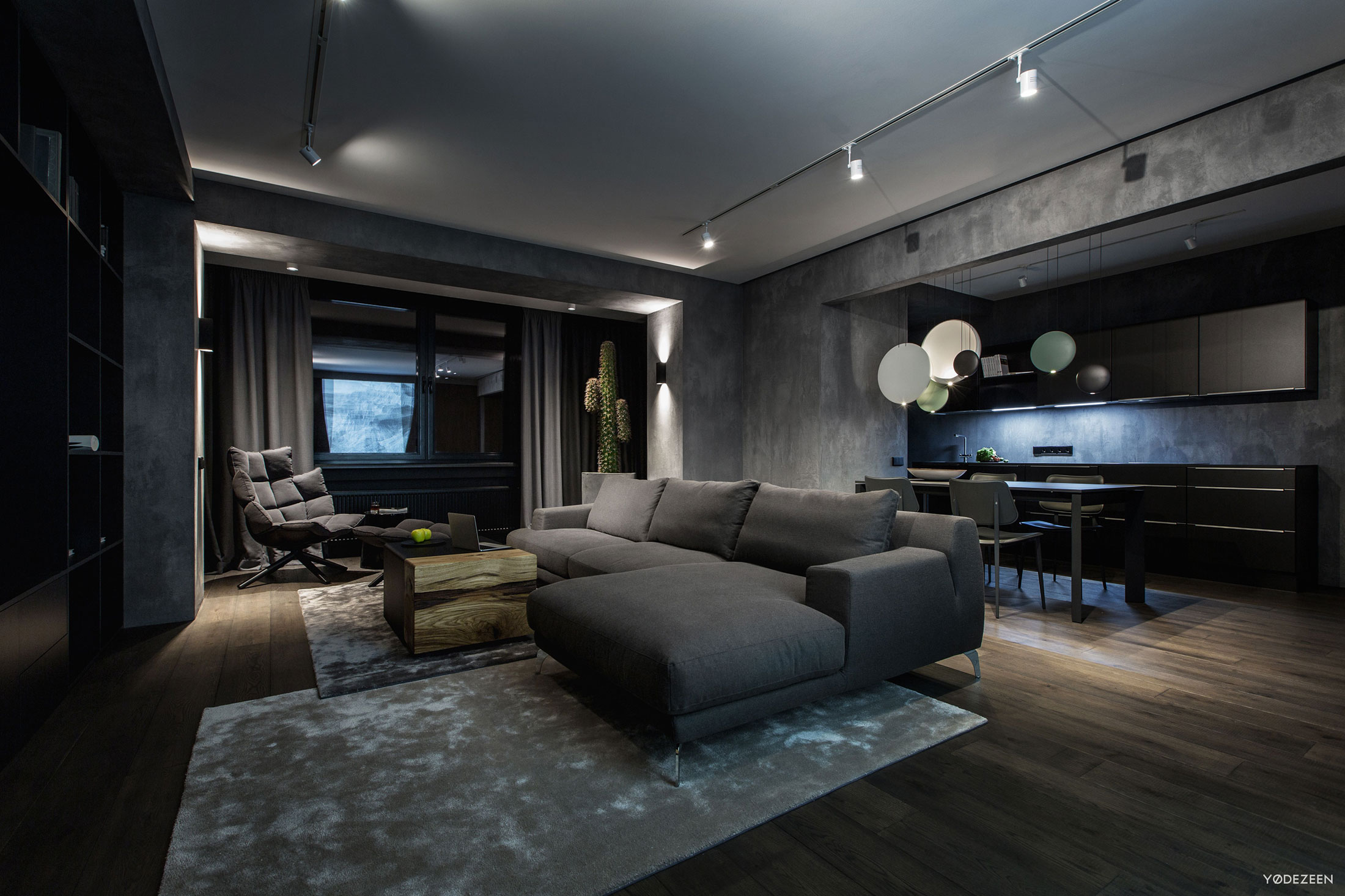A modern home interior in kiev ukraine