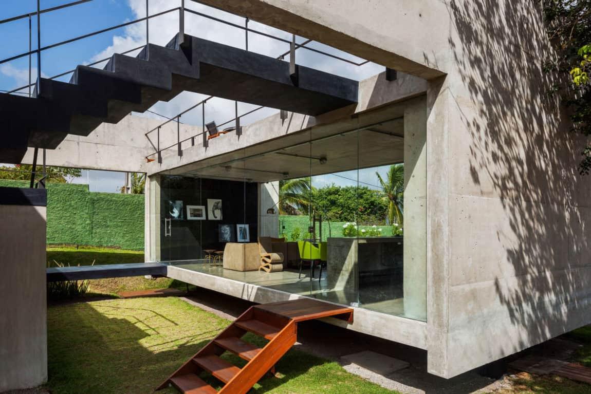 Two Beams House by Escritório Yuri Vital (5)