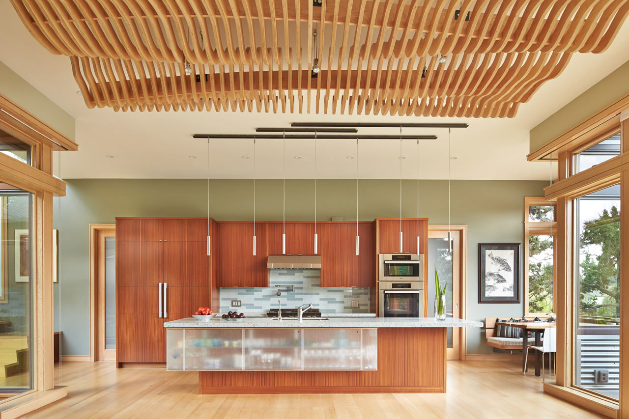 Finne architects design a contemporary home facing the deschutes river in bend oregon - What is contemporary style ...