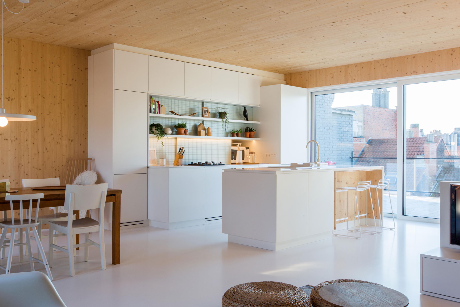 SPOTLESS ARCHITECTURE Designs a Wooden Home in Brussels, Belgium