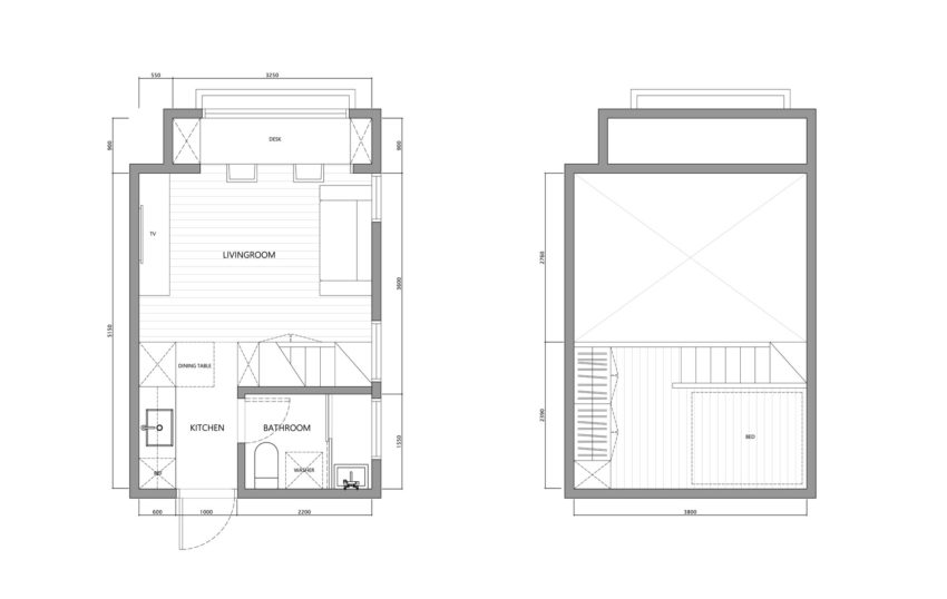 22m2 Apartment in Taiwan by A Little Design (20)