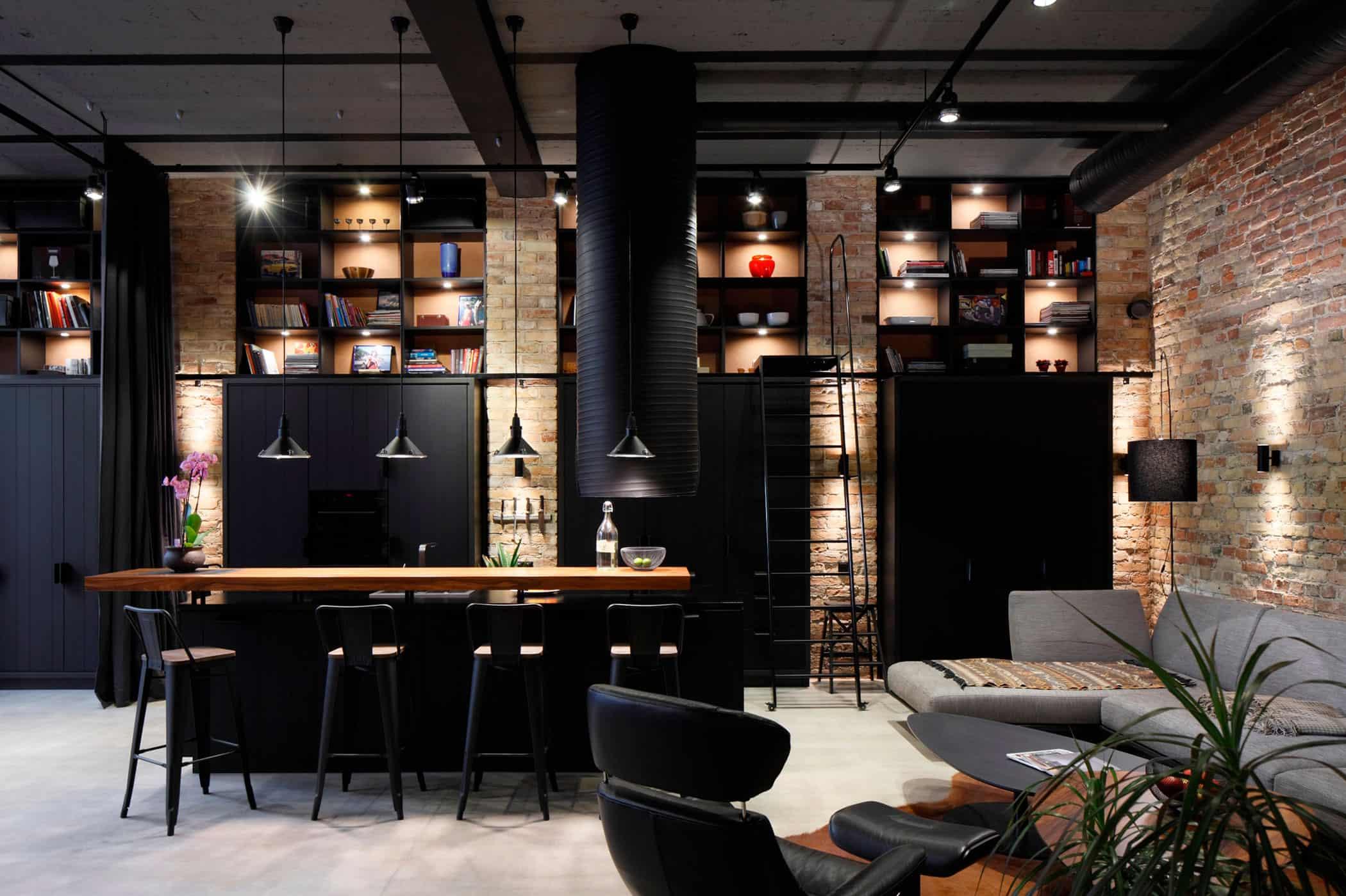 OPEN AD U2013 Architecture And Design Creates An Industrial Chic Apartment In  Riga, Latvia