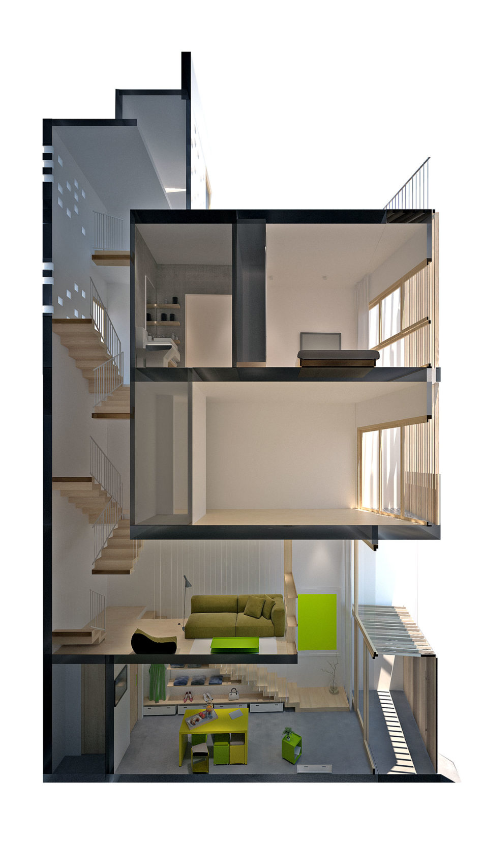 Micro Town House 4x8m by MM ++ ARCHITECTS (22)