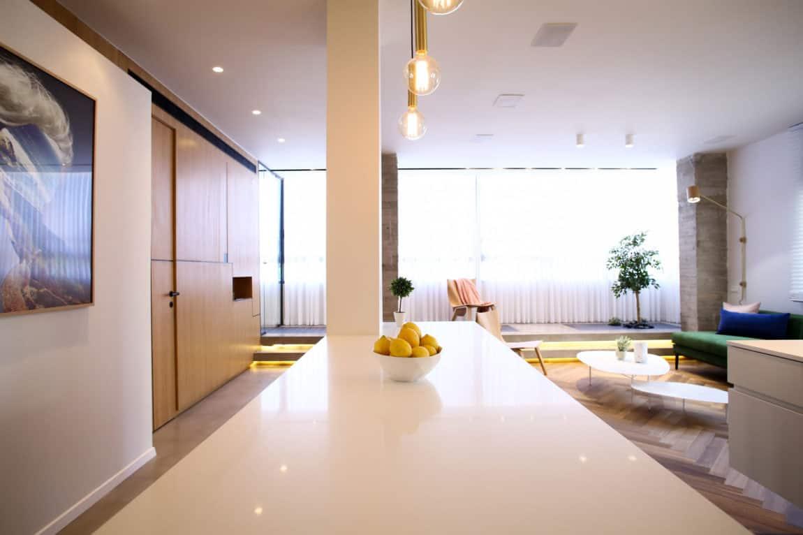 Dori interior design renovates a private residence in tel aviv