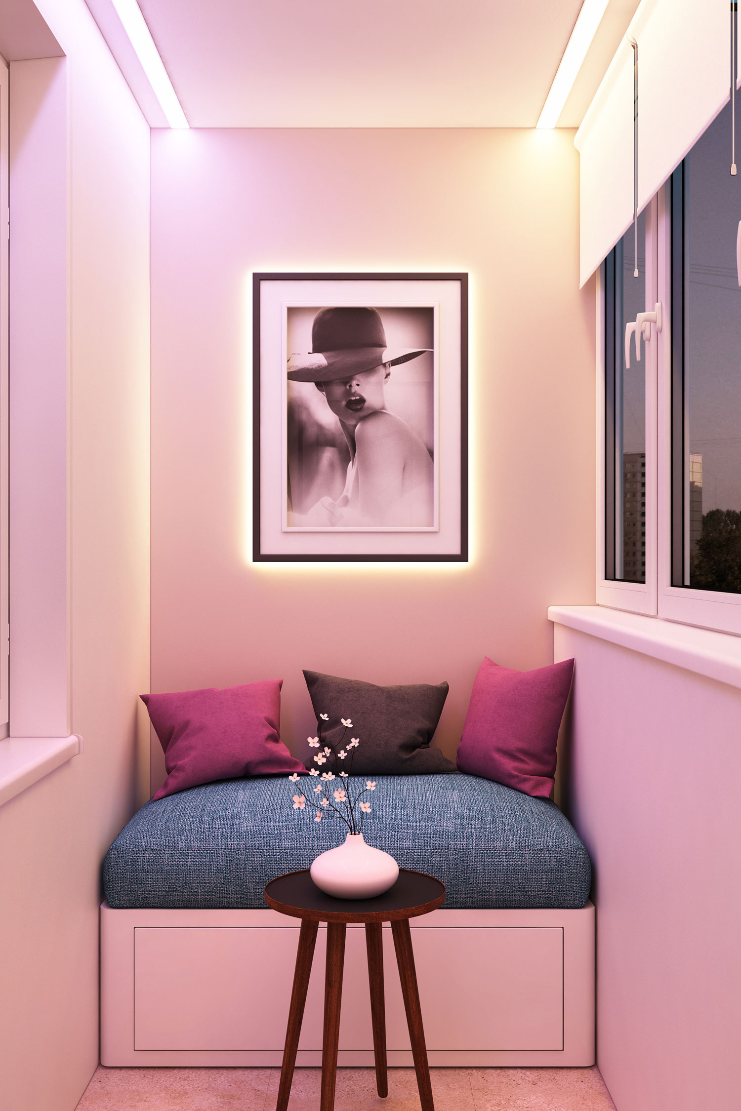 Фиолетовый балкон фото.