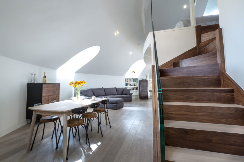 A Contemporary Penthouse Apartment In A Partially Converted Orthodox Church In London England