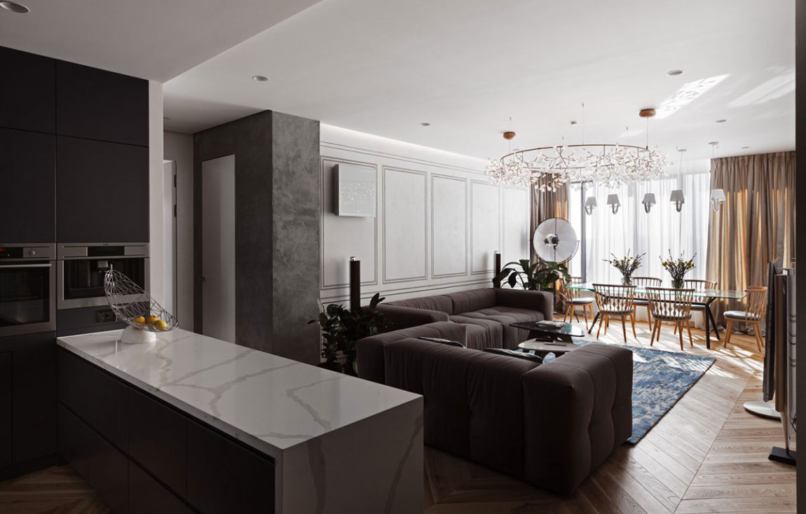 Eclectic Skyline Residence by Sergey Makhno (1)