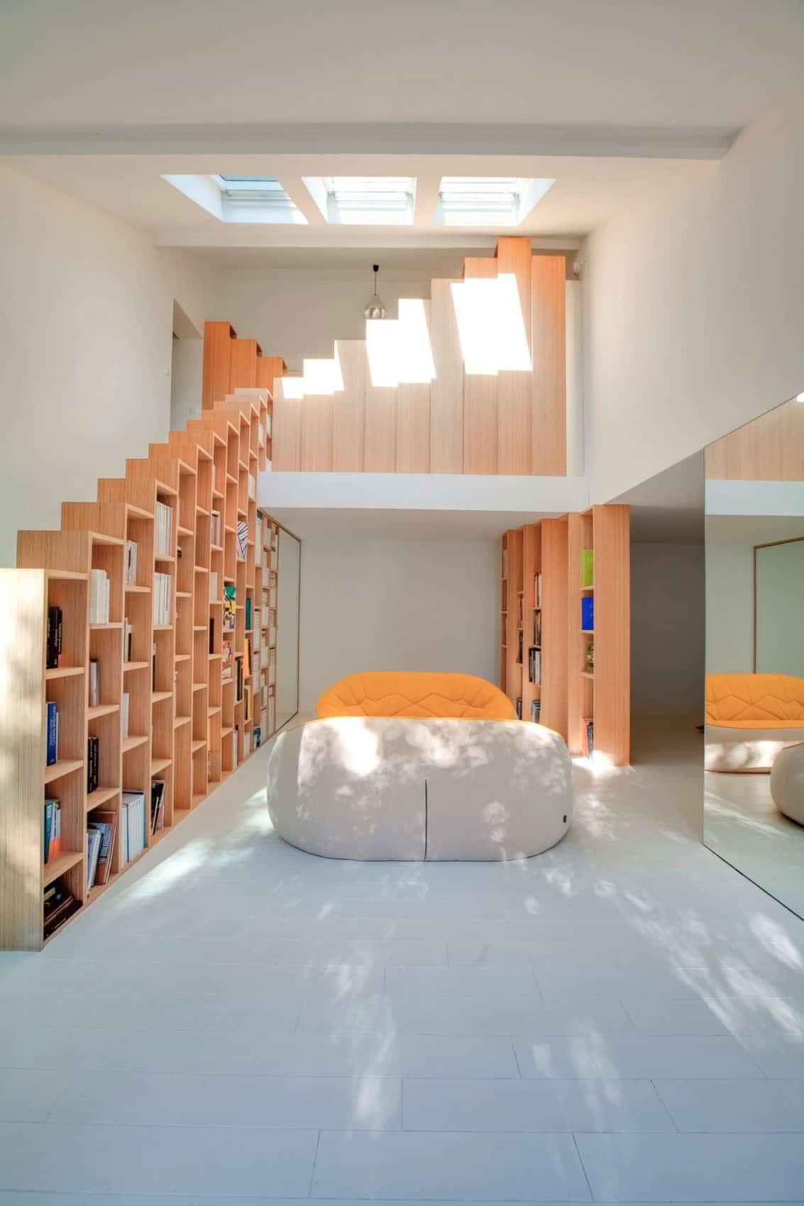 Bookshelf House by Andrea Mosca Creative Studio (2)