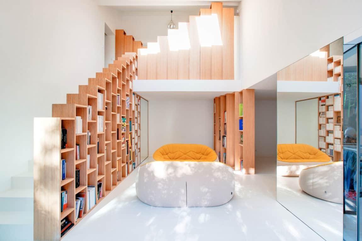 Bookshelf House by Andrea Mosca Creative Studio (3)
