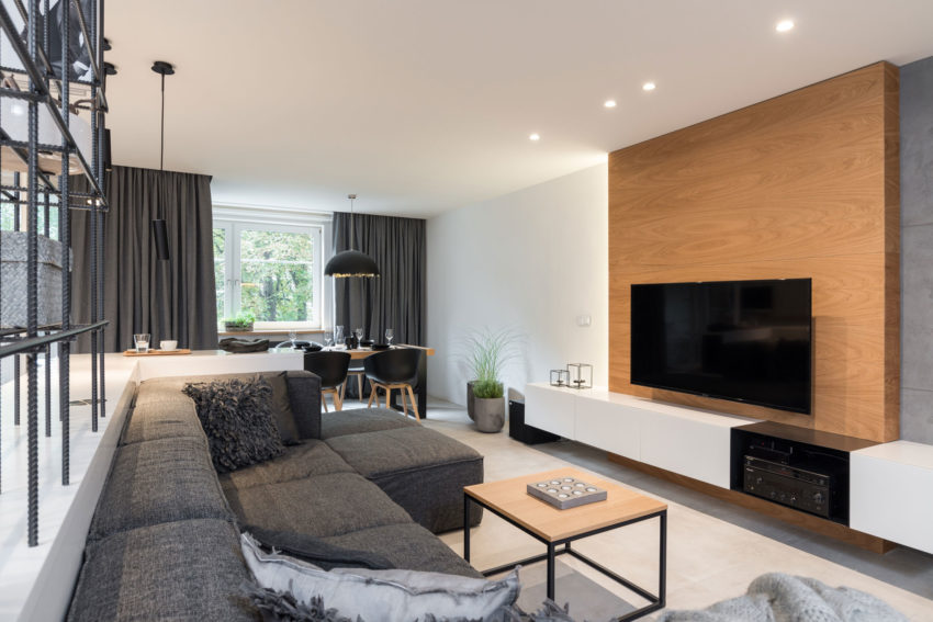 Grey & Wood Apartment by OOOOX (2)