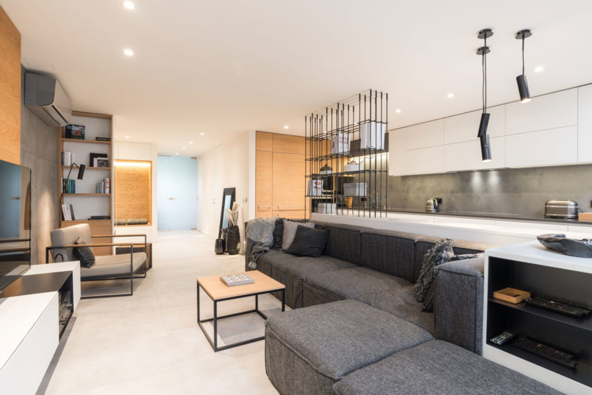 Grey & Wood Apartment by OOOOX (5)