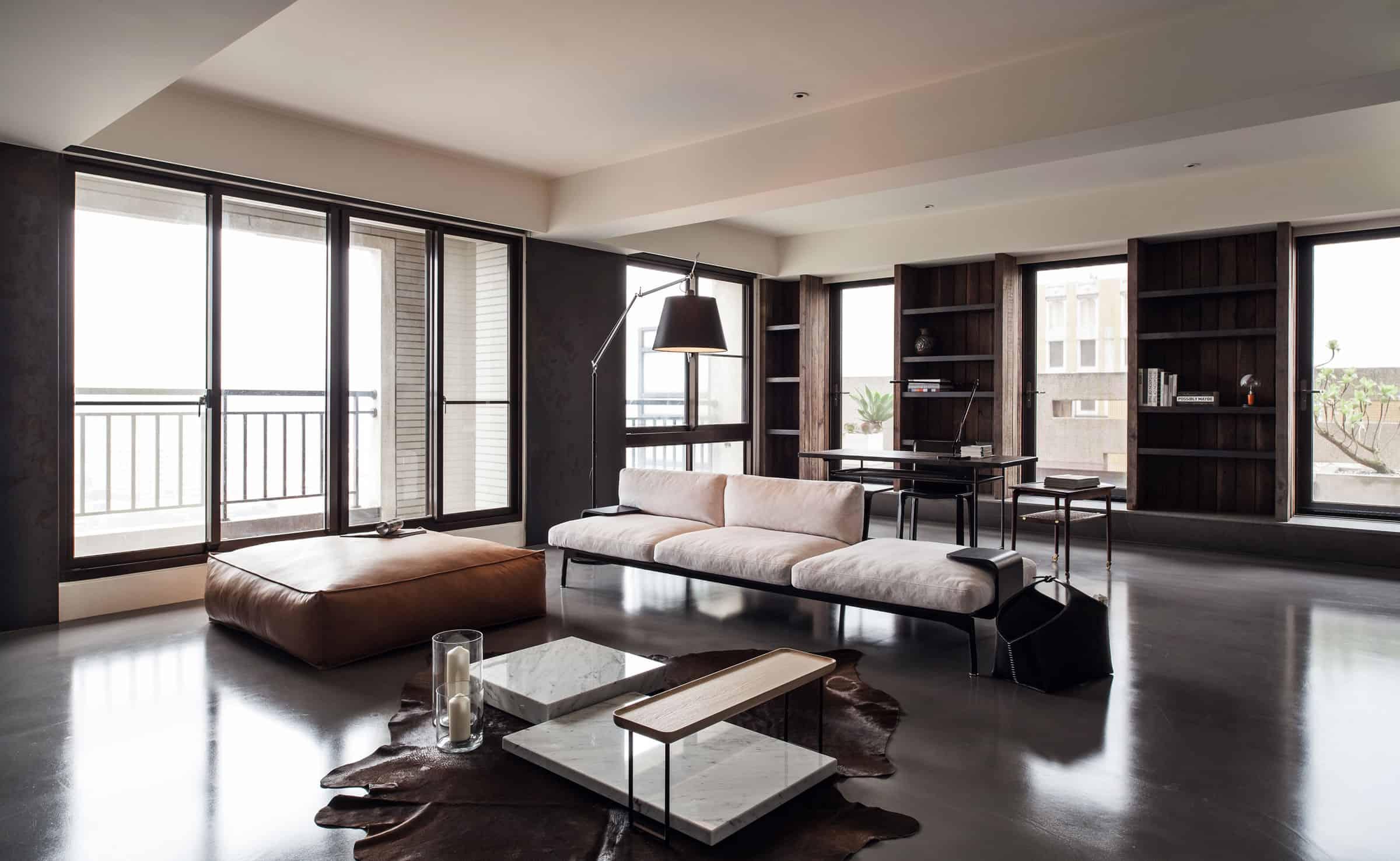 Wei Yi International Design Associates Design an Elegant Concrete Home in Taipei, Taiwan
