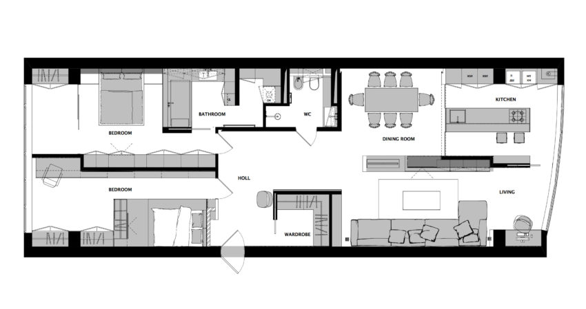 MONOCHROME-flat by LINE architects (13)