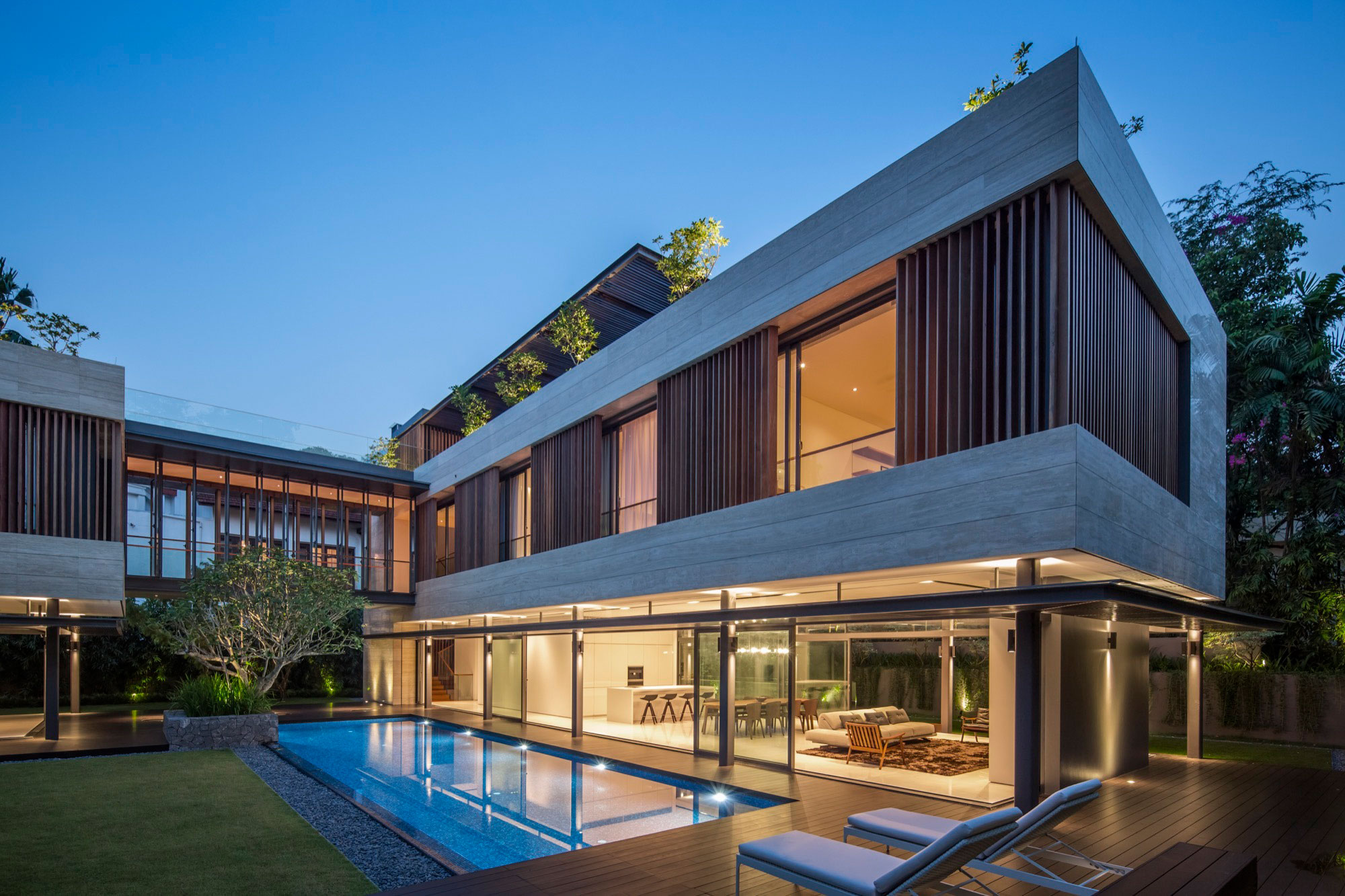 Wallflower Architecture + Design Creates a Vast Contemporary Home in Bukit Timah, Singapore