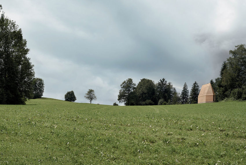 A Chapel Surrounded by Beautiful Landscapes on the Sloping Hills of Austria