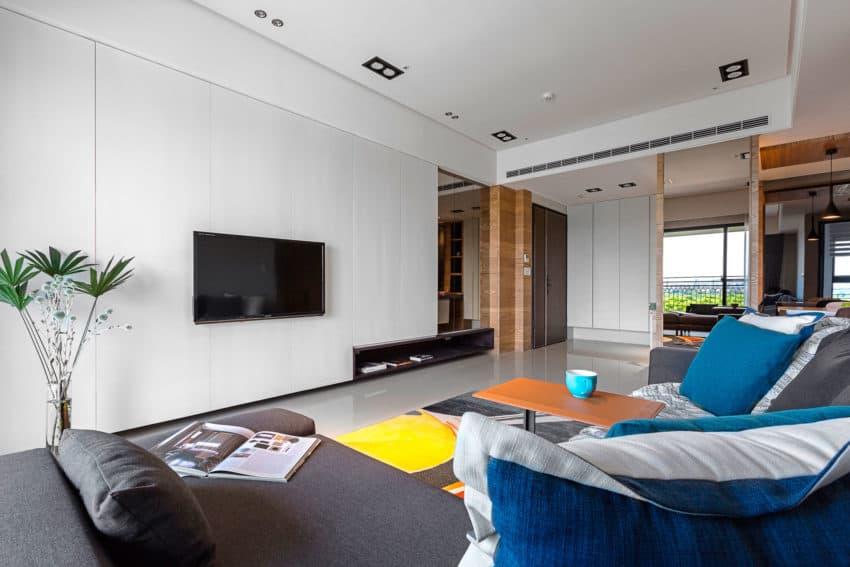 HOZO Interior Design Creates a Contemporary Home in Taipei, Taiwan
