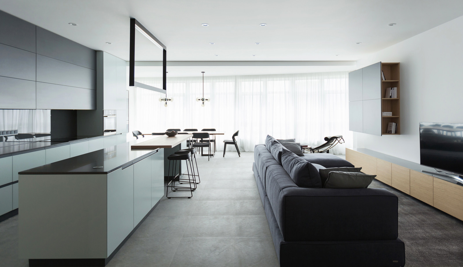Apartment Beautifully Decorated By The Architectural Studio Lugerin Architects