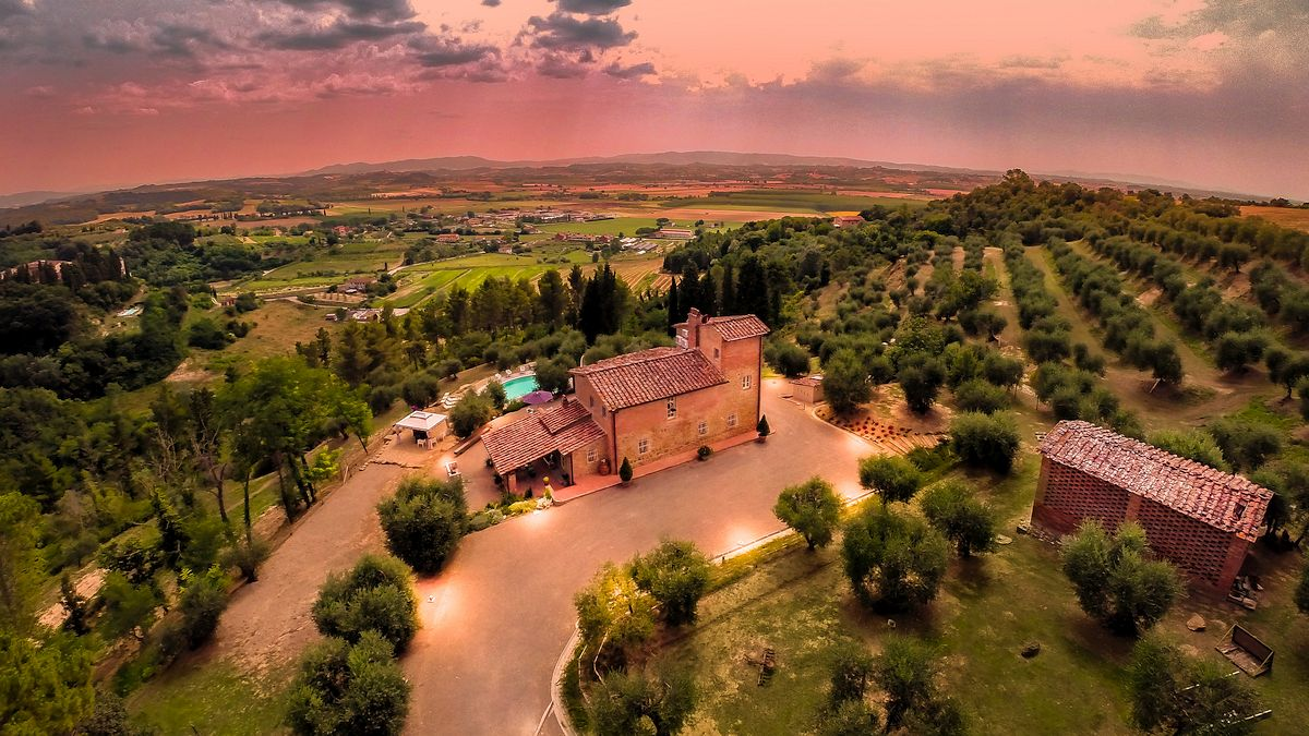 A Charming Tuscan Villa Surrounded by Olive Groves in Palaia, Italy