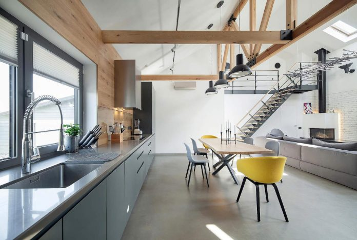 Contemporary Meets Industrial In This Private Home In Kiev Ukraine