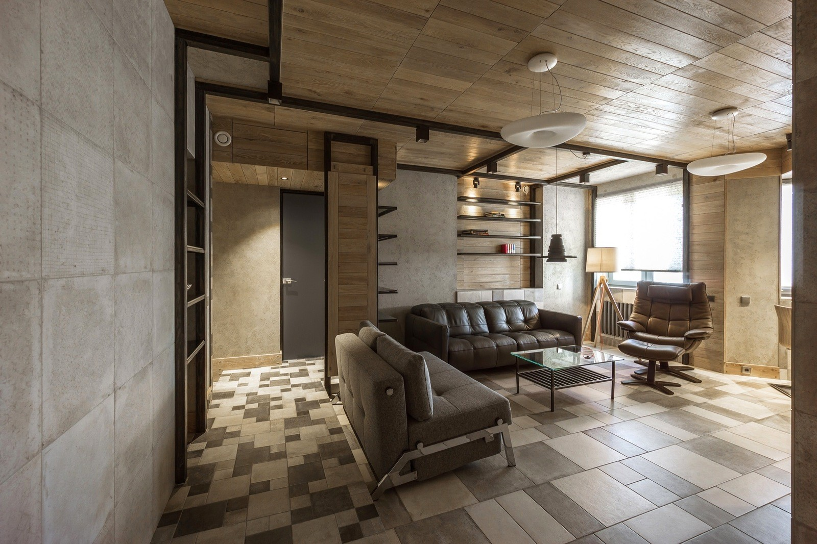 Apartment Located in Moscow, Russia Designed by Alekseem Rozenbergom