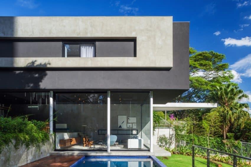 FGMF Arquitetos Design A Concrete Home In S O Paulo Brazil.