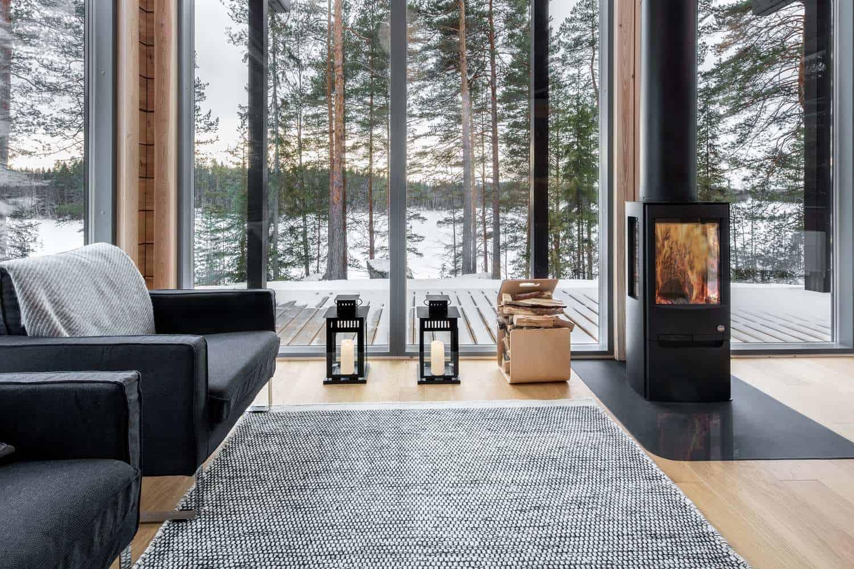 log villa in central finland by pluspuu oy architect