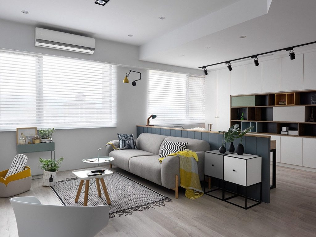 Scandinavian Style Apartment Gray Interior