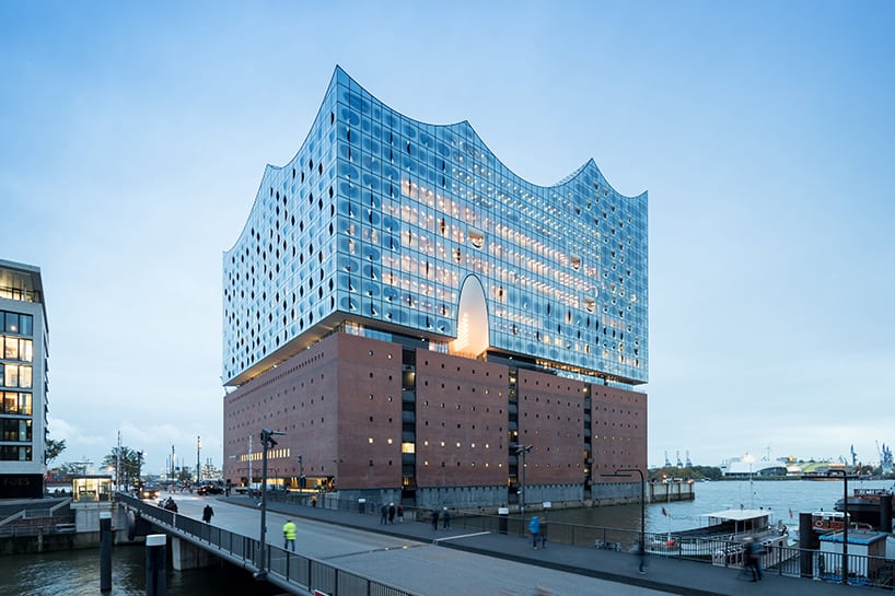 Herzog & de Meuron designed a Futuristic Building in Hamburg, Germany