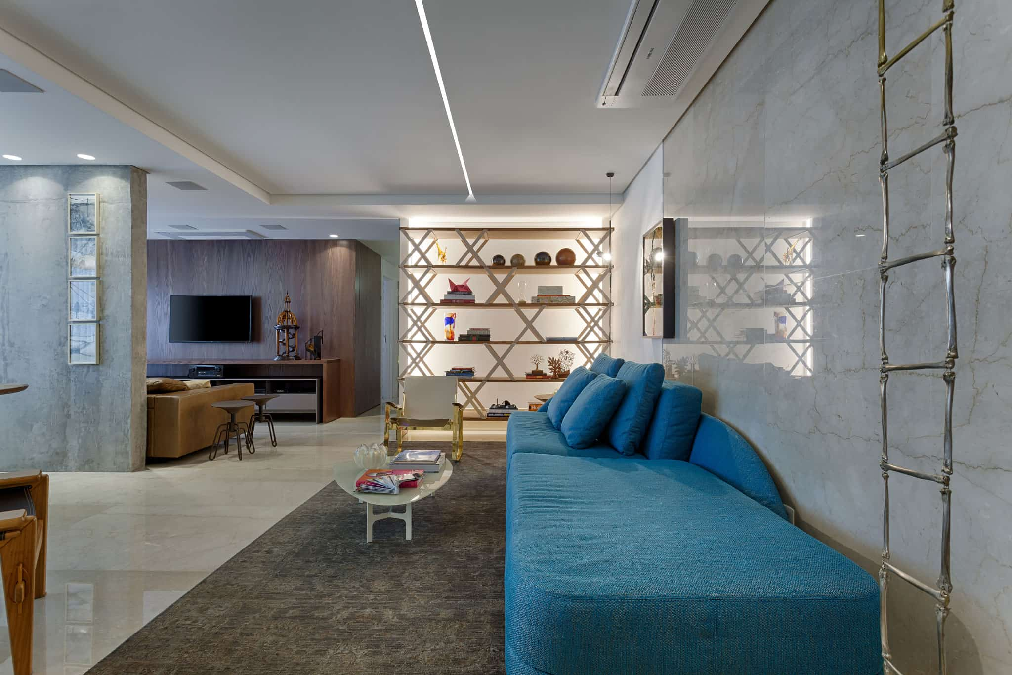 An Apartment With a Cool Design Created by 2Arquitetos