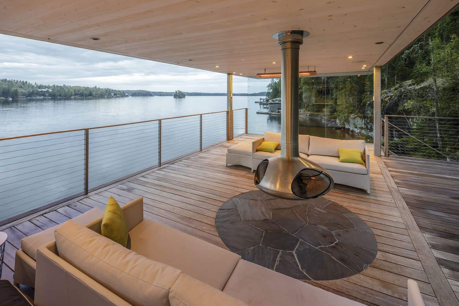 Spectacular Boat House designed by Cibinel Architecture in Canada
