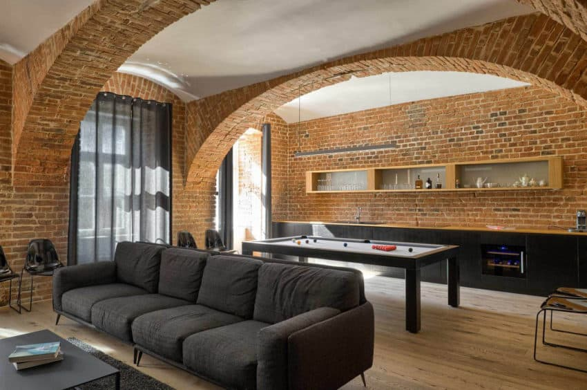 Warm Apartment With Exposed Brick Walls Designed by Arhitektura AB ...