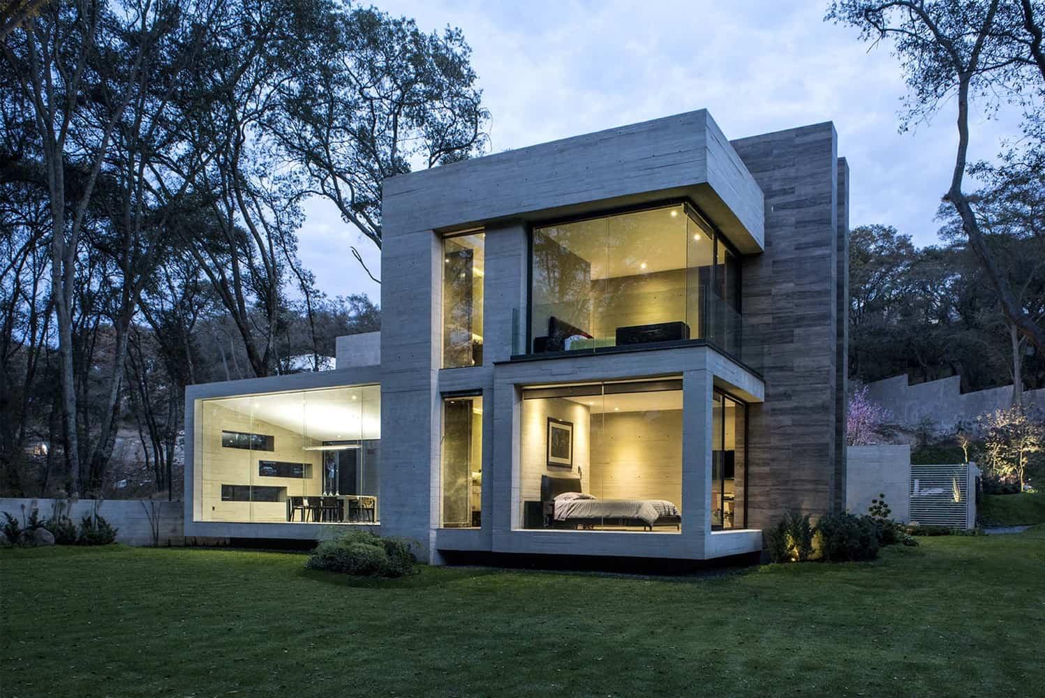 Concrete house designed by the mexican firm grupo mm mexico - Casas de cemento ...