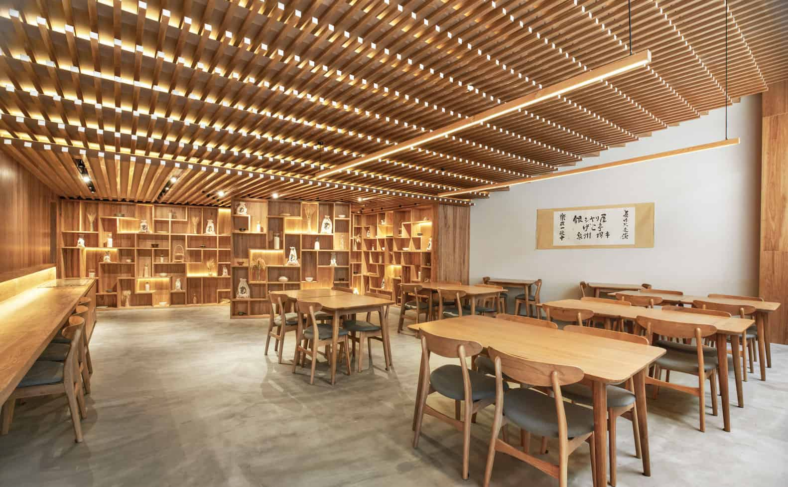 Restaurant in Shanghai, China designed by Tsutsumi & Associates