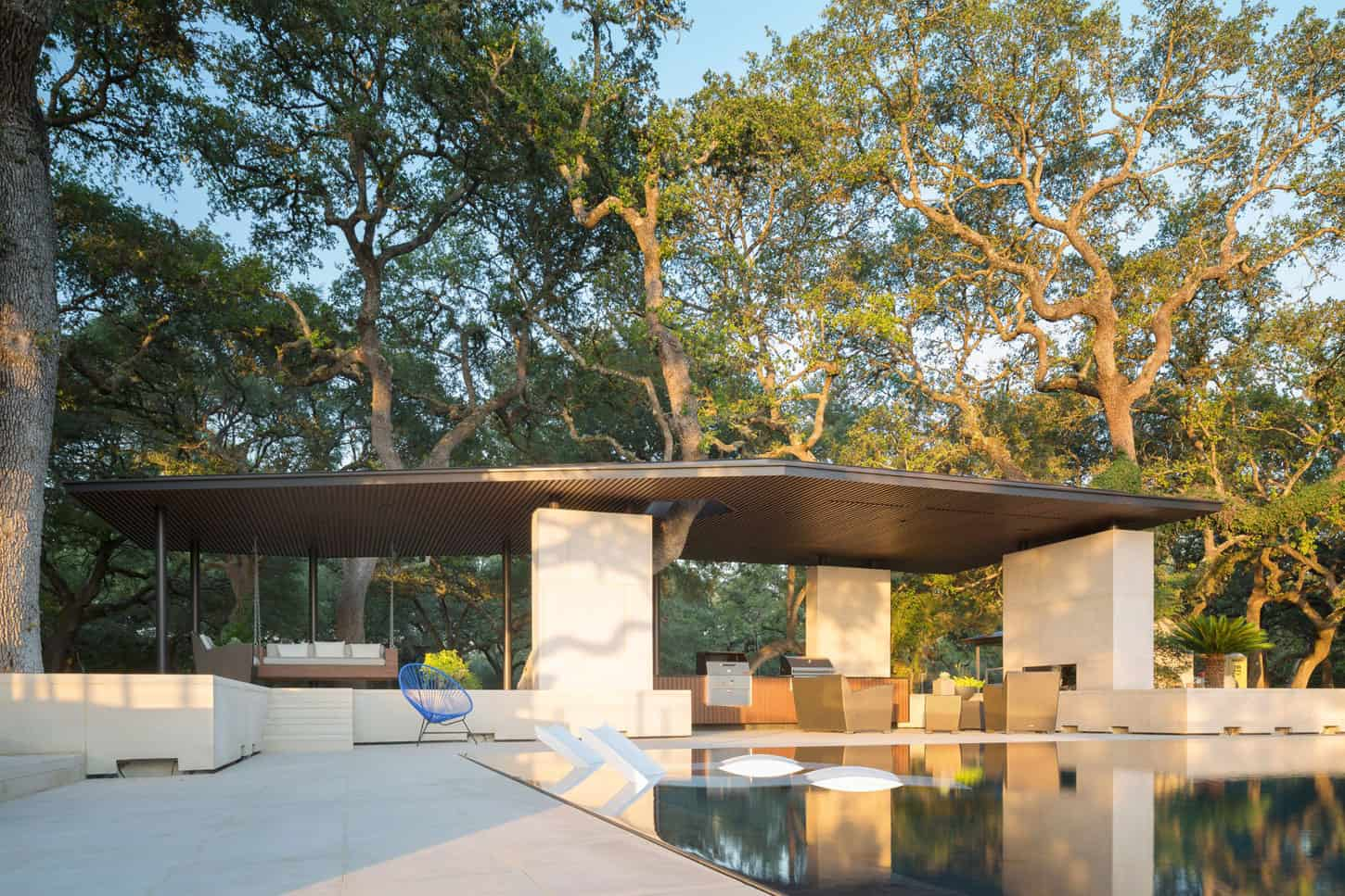 Poolside Pavilion Designed By Murray Legge Architecture In